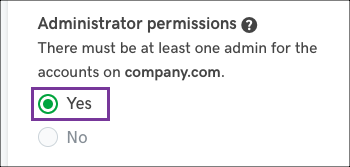 Confirm or select admin permissions.