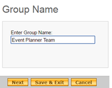 Enter a new name for the group