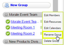Click Rename Group