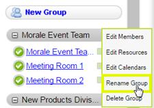 按一下「重新命名群組」。
