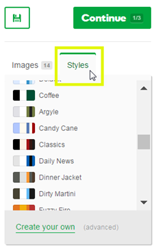 Click the Styles tab
