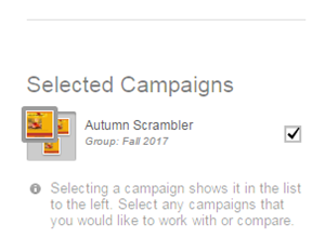 The campaign thumbnail appears in the group