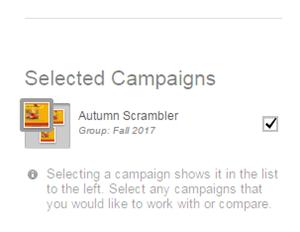 La imagen en miniatura de la campaña aparece en el grupo.
