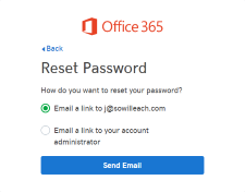 Send a password reset email