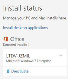 Installs detected