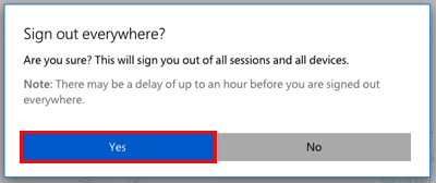 Confirm you want to sign out of all sessions