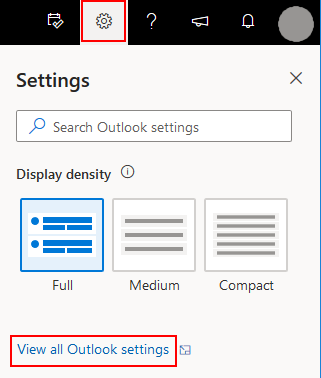 Click on Settings then Mail