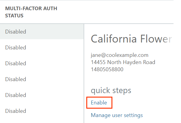 Under quick steps, enable and manage user settings options
