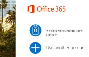 Microsoft hesabına tıklayın