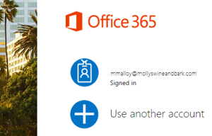 Clicar na conta Microsoft