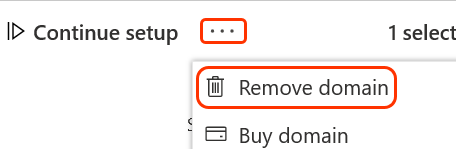 Three dots and remove domain