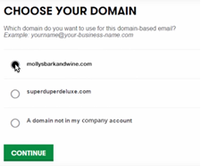 Choose your domain