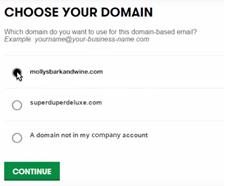 Pilih domain Anda