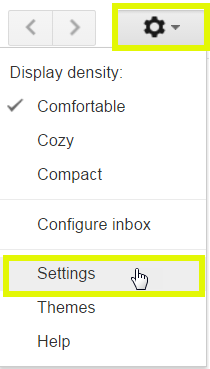 Click the gear button, and then click Settings