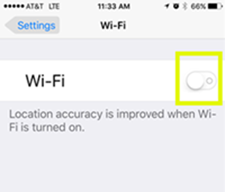 Tap WiFi, and tap the toggle to turn it off